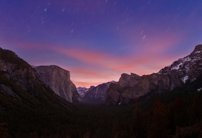 Tunnel View Sunrise Star Trails-L