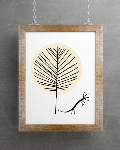 Poster Hanging Mockup 3 Hydra Tree 3