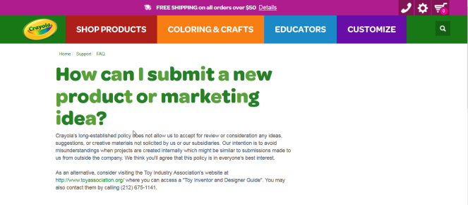 2018-03-16 21_50_16-How can I submit a new product or marketing idea_ FAQ _ crayola